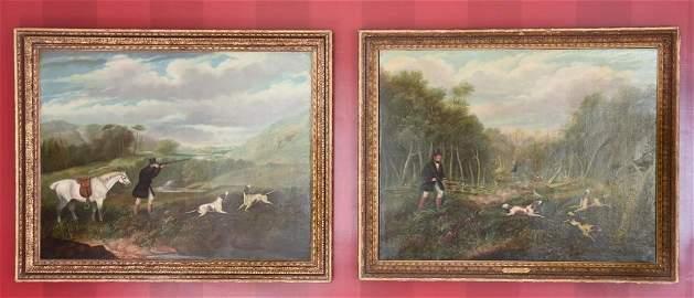 Pair of Oil Paintings by Samuel J E Jones