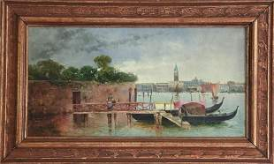 Jose Rico Y Cejudo 1864-1939 Venetian Oil Painting