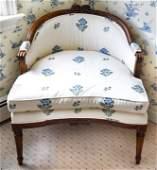 Antique 19th C French Walnut Armchair
