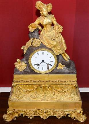 Antique 19th C French Mantel Clock by Boussard