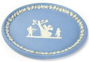 English Wedgwood Jasperware Blue & White Plaque