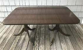 Brickwede Sheraton Double Pedestal Dining Table