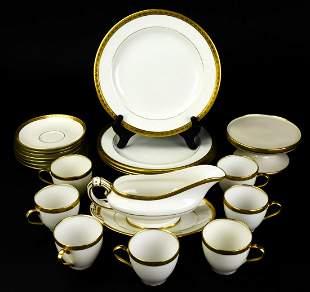 Lot Assorted Gilt Porcelain Including Limoges,