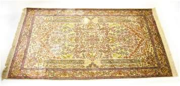 Silk & Wool Blend Hand Knotted Oriental Carpet