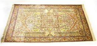 Silk & Wool Blend Hand Knotted Oriental Carpet