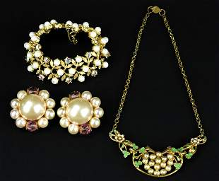 Collection Faux Pearl Costume Jewelry
