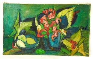 Dean Cornwell Oil on Canvas Still Life w Fruit