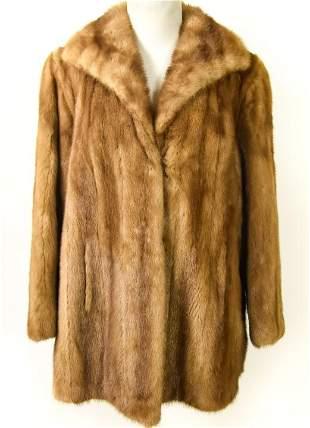 Custom Made Quality Gray Mink Ladies Coat
