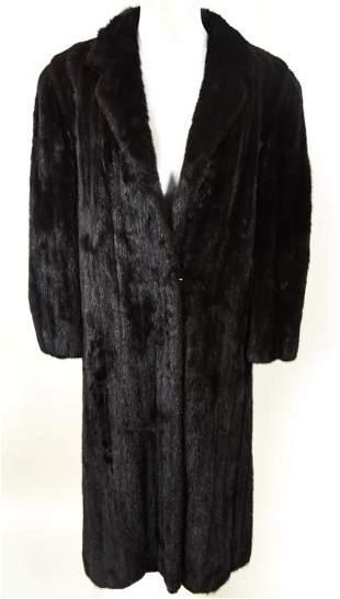 Custom Made Quality Black Mink Ladies Coat