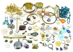 Collection Antique Vintage Jewelry Pieces Sterling