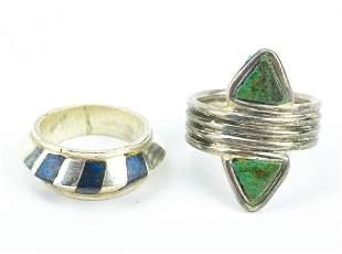 2 Vintage Mexican Rings by Spratling