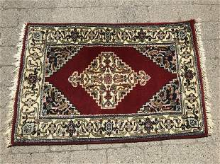 Oriental Hand Knotted Central Medallion Area Rug