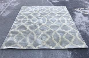 Contemporary Kaleen Geometric Wool Rug