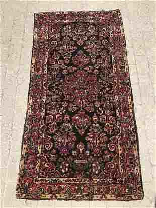 Persian Hand Knotted Wool Area Rug w Vase Design