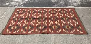Vintage Navajo Hand Woven Area Rug / Carpet Runner