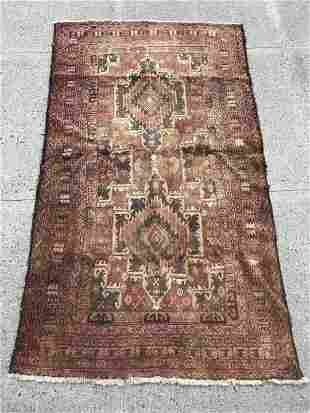 Persian Hand Knotted Wool Geometric Area Rug