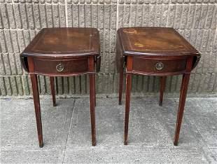 Vintage Hathaway's Furniture Drop Leaf End Tables