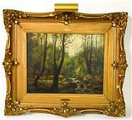 E Richter European School Landscape Oil Painting