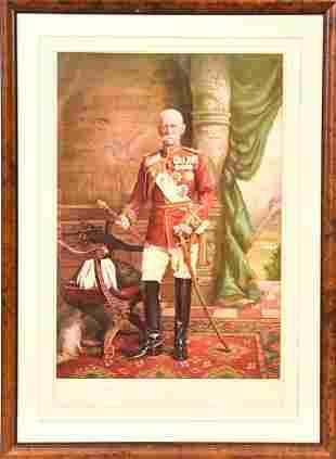 Victorian Era General Frederick Sleigh Lithograph