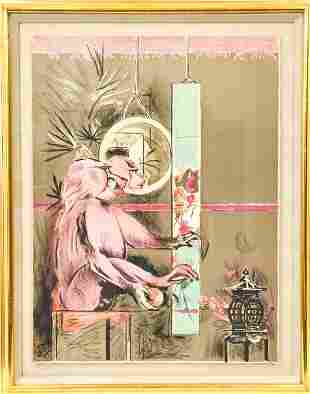 Framed Vintage Graham Sutherland Color Lithograph