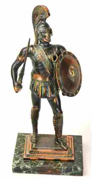 Bronze Spartan King Leonidas Greek Warrior Statue