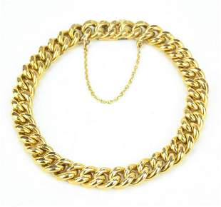 Estate Gold Filled Curb Link Bracelet