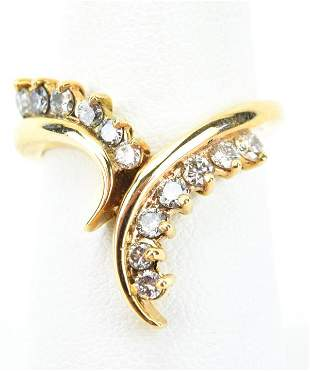 Estate 14kt Yellow Gold & Diamond Figural Ring