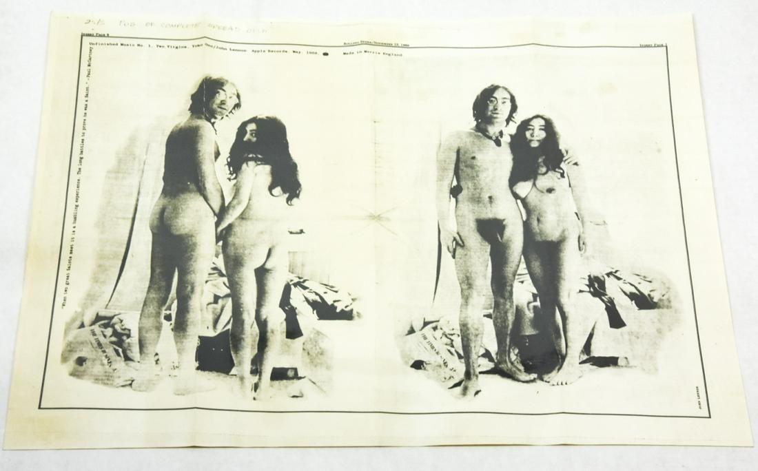 John Lennon Yoko Ono Two Virigins Promo Poster