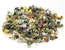 Large Lot of Antique & Vintage Costume Jewelry