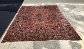 Antique Persian Sarouk Hand Knotted Wool Carpet