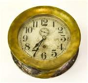 Vintage Seth Thomas Brass Tone Maritime Ship Clock