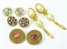Collection of Costume Jewelry Clip on Earrings