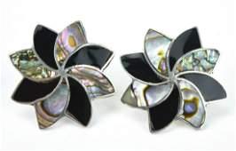 Pair Vintage Mexican Sterling Silver Earrings