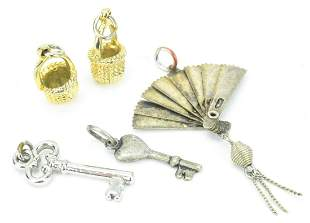 Charms - Nantucket Baskets, Skeleton Keys, Fan