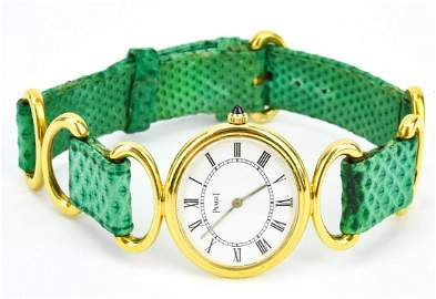 Vintage Piaget 18K Gold Women's Wrist Watch