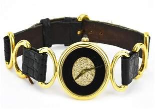 Vintage Piaget 18K Gold Women's Diamond Face Watch