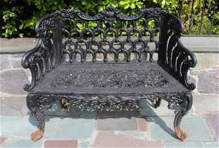 Victorian Style Cast Iron Outdoor Garden Bench