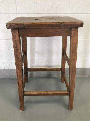 Primitive Country Style Carved Stool