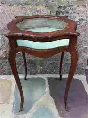 Antique French Provincial Ormolu Vitrine Table