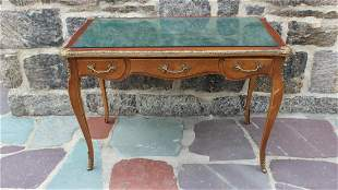 Antique Louis XV Book Matched Ormolu Mounted Desk