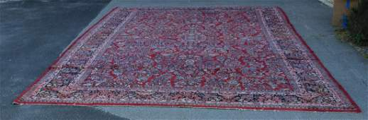 Persian Hand Knotted Wool Carpet w Vase Design
