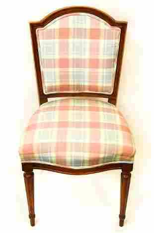 Louis XVI Custom Upholstered Side / Desk Chair