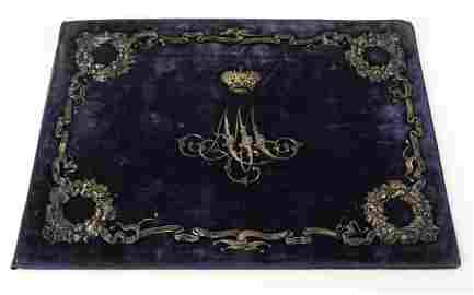 Imperial Russian Winter Palace Silver Velvet Album