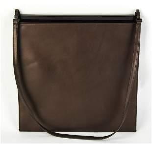 Gucci Metallic Leather Envelope Shoulder Bag