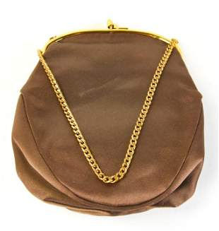 Vintage Rosenfeld Brown Silk Evening Bag