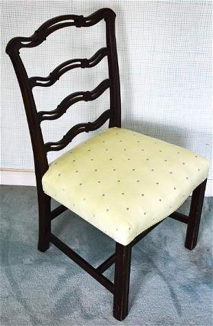 Antique English George III Ribbon Back Side Chair