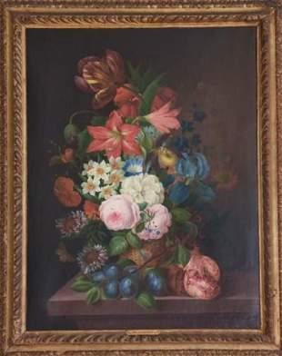 Franz Xaver Gruber Floral Still Life Oil Painting