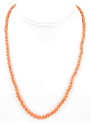 Estate 14kt Yellow Gold & Natural Coral Necklace