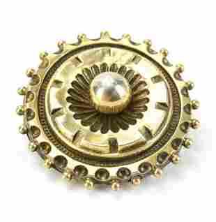 Antique 19th C 10kt Gold Etruscan Pendant