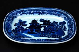 Antique English Spode Blue Willow Platter